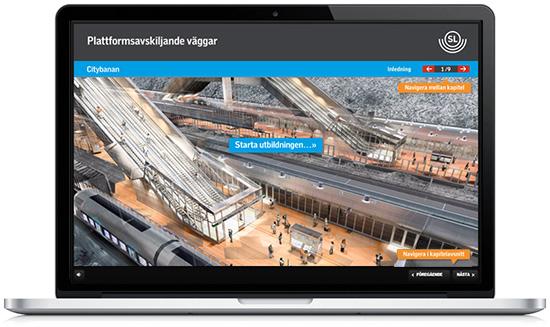 Webpunkten har producerat E-learning för SL-Citybanan
