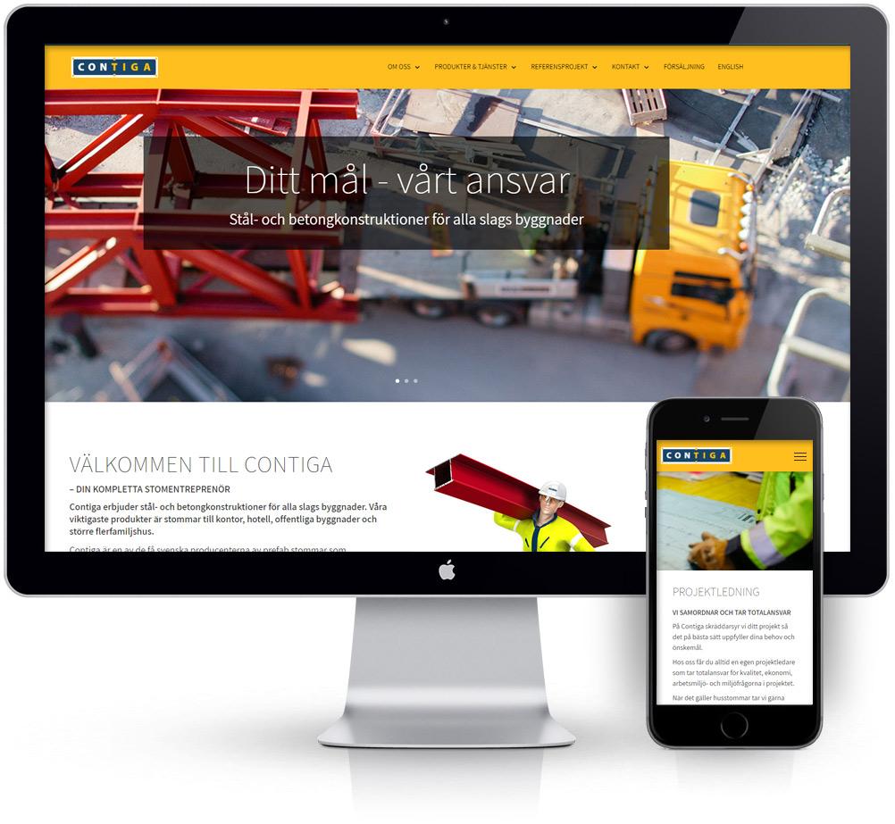webbyrå webpunkten kunder contiga