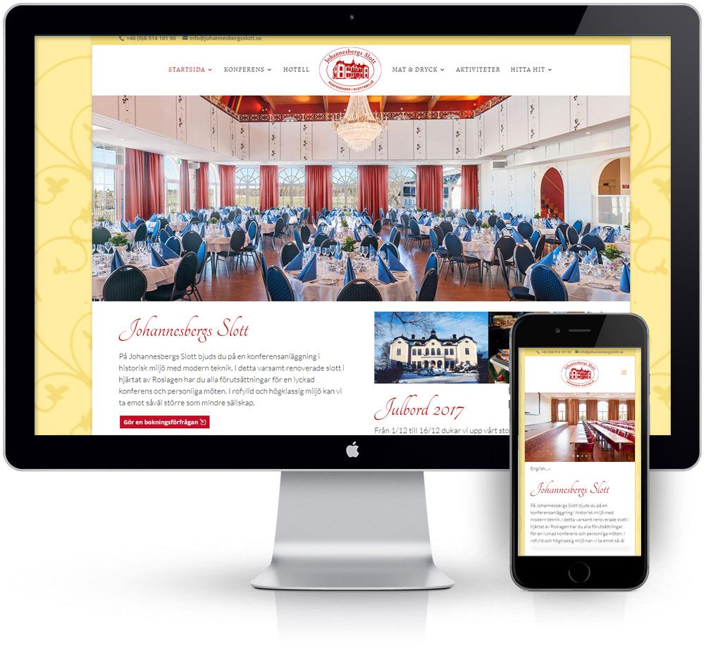 webbyrå webpunkten kunder johannesbergs slott