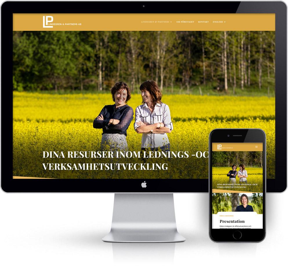 webbyrå Webpunkten. Webbdesign av mobilanpassad webbplats i WordPress och sökmotoroptimering. Kund Lindegren