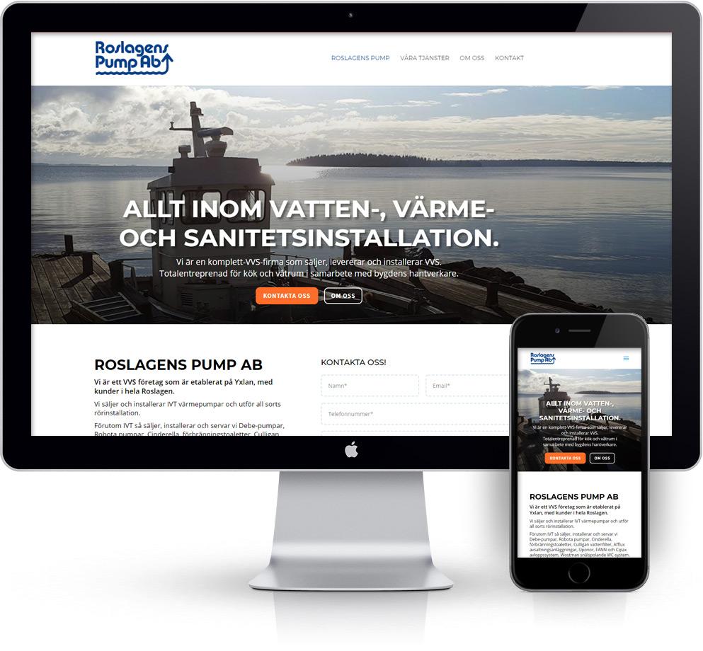 webbyrå Webpunkten. Webbdesign av mobilanpassad webbplats i WordPress och sökmotoroptimering. Sociala medier. Kund Contiga AB