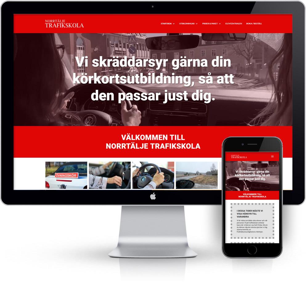 webbyrå Webpunkten. Webbdesign av mobilanpassad webbplats i WordPress och sökmotoroptimering. Kund Work Power
